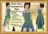 *LBD* Mesh Salsa Asymmetrical Dress - Blue & Green