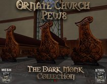 DM Ornate Church Pew Set