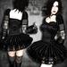 ~Black Arts~Vega Satin and Lace Gothic Dress