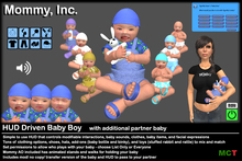*Mommy Inc* HUD-Driven Highly Detailed Prim Baby Boy v2.4.2