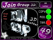 Join Group 2 >> Join Group in 3D Letters <<