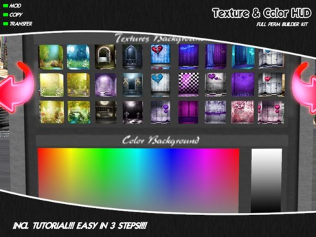 FULL PERM TEXTURE & COLOR HUD EASY