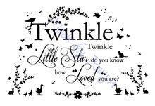 Twinkle Twinkle Wall Decal