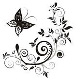 Decorative Butterfly Scroll Wall Decal