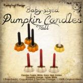 [DDD] Baby Sized Pumpkin Candles (Tall)