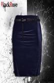 BlackRose  Pencil Skirt Blue Leather