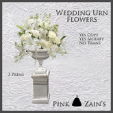 Wedding Urn Simple - White [Boxed]