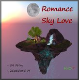 Romance Sky  Love  59 Prim  ( Sky Box Cave Grotto Waterfall )