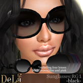 "=DeLa*= Sunglasses ""RG1"" Black BOX"