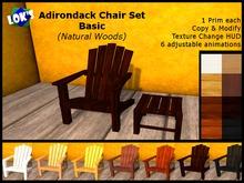SALE 70% OFF Lok's Adirondack Chair Set Basic (Natural Woods)
