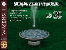 Wasenshi simple stone fountain - resizable