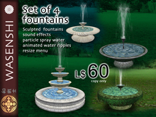4 fountain set