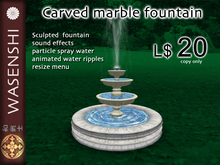 Wasenshi Carved Marble fountain - resizable