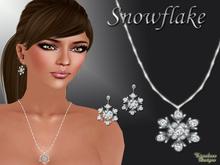Snowflake pendant set