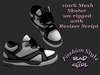 Bad Girl Mesh Skate Shoes clean black