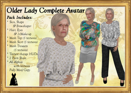 *LBD* Older Lady - Complete 60 Year Old Avatar