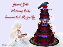 Dr3amweaver Grand Goth Wedding Cake (Immortal Royalty)