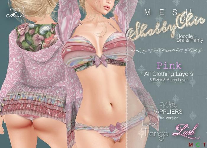 [LuVs] ShabbyChic Cardi Set Pink + Tango Lush Appliers