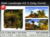 Mesh Landscape Kit 3  22 prim=15x15m copy-mody