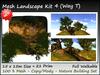 Mesh Landscape  Kit 4  21 prim=15x15m copy-mody