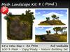 Mesh Landscape Kit 8  26 prim=15x15m copy-mody