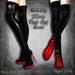~Black Arts~Bellatrix Moon Thigh High Mesh Boots
