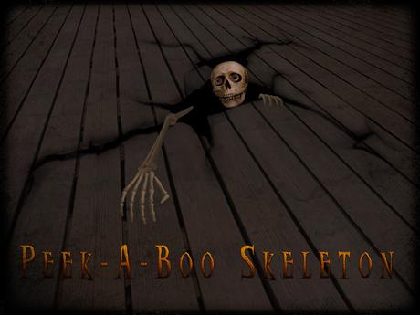 Boudoir Halloween-Peek-A-Boo Skeleton-Floor version