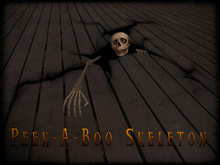 Boudoir Halloween-Peek-A-Boo Skeleton-Floor version