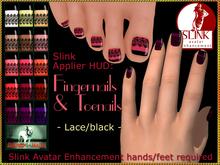 Bliensen + MaiTai - Slink Nail Applier HUD - nailpolish for toenails and fingernails - Lace/black