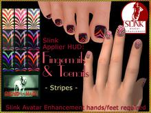 Bliensen + MaiTai - Slink Nail Applier HUD - nailpolish for toenails and fingernails - Stripes