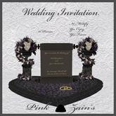 Wedding Invitation - Heart/Goth-Purple [Boxed]