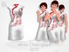 [A] White Cheongsam -Rigged Mesh-