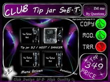 Club Tip jar Set 12 >> Cool Club Set Menu Driven <<