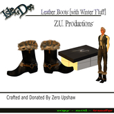 Isle of Dee - Outfit - Leather Boots with Winter Fur - Unisex