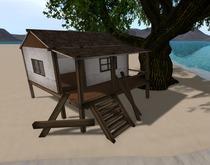 Old Beach Cottage - 5 prims