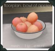 floorplan. bowl of apples [ boxed ]