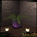 =Mirage= Lighted Corner Plant 1 - Red