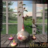 =Mirage= by KRC - Zen Stone Vase with Japanese Branch