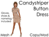 Delia's Candy Striper Dress & Shoes