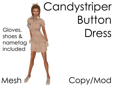 Delia's Candy Striper Dress & Shoes