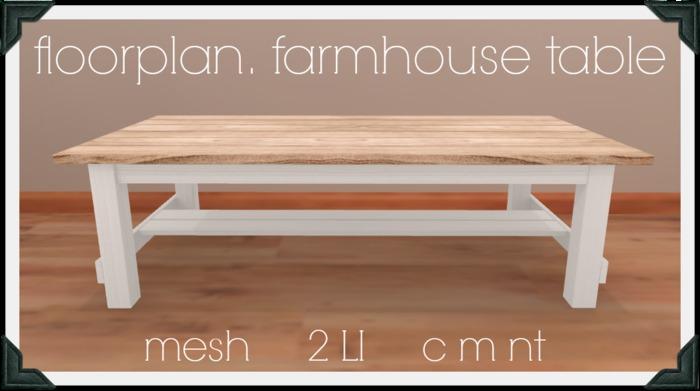 floorplan. farmhouse table [ boxed ]
