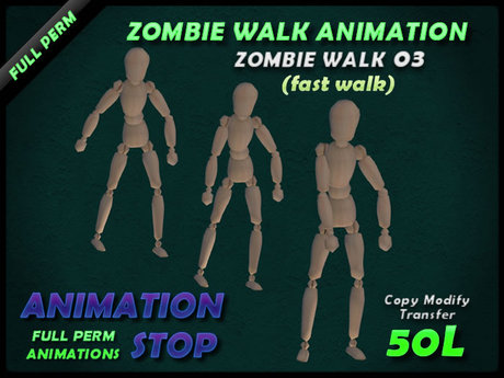 Animation Stop - Zombie Walk 03 Full Perm Box