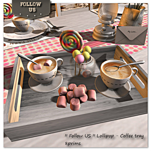 Special offer Marketplace !! Follow US !! Lollipop - Coffee tray