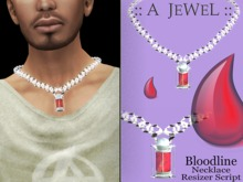 ::A JEWEL:: VAMPIRE BLOOD LINE WHITE Necklace Male Jewelry ( Perfect for vampire and halloween)