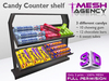 Candy Counter Shelf - 100% mesh - 3 prims