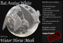 ~*WH*~ Mesh Bat Avatar White