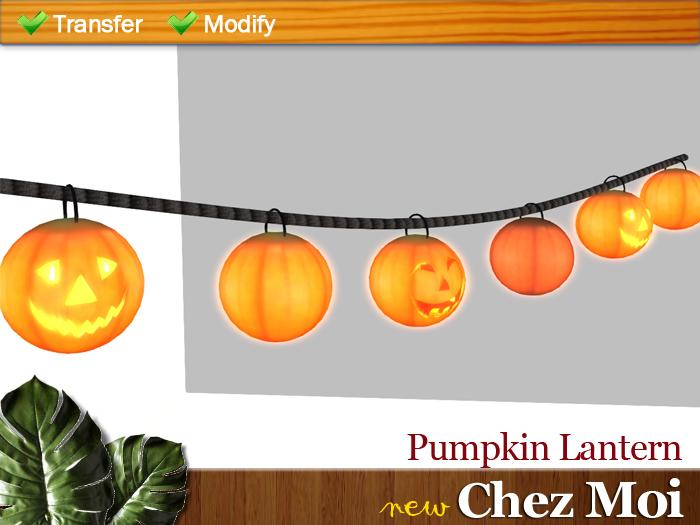 Pumpkin Lantern  ♥ NEW Chez Moi