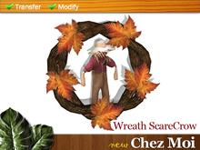 Wreath ScareCrow ♥ NEW Chez Moi