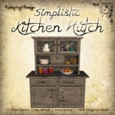 [DDD] Rustic Kitchen Cooking Hearth - 100% Mesh