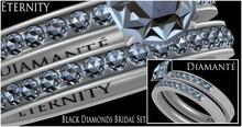 :Diamante: Eternity Black Diamonds Bridal Set